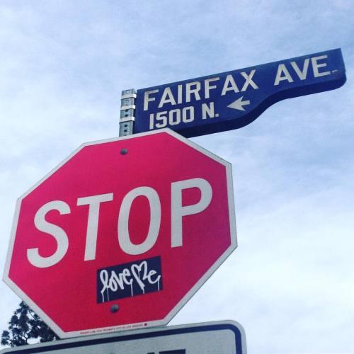 lostangelesstreetart:  #tbt @curtiskuligstudio #streetart #losangeles #love #art #streetartist #curtiskulig #urbanart #rsa_graffiti #rsa_preciousjunk #rsa_streetview #dsb_graff #artist #arte #arteurbano #royalsnappingartists #tv_streetart #infamous_family #igla #igersla #LA #slaps #slap #stop #fairfax (at West Hollywood, California)