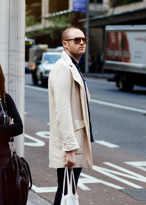 White trench.Similar look: Dries Van Noten Men's Royani Coat.