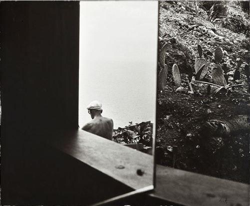 varietas:Lucien Hervé: Le Corbusier (Jardin), Roquebrune Cap-Martin, 1951