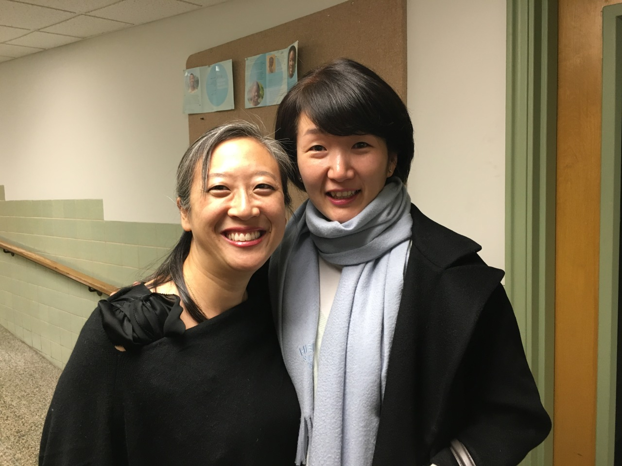 My friend, Sunyoung, came to our concert in Baltimore- I haven't seen her since we played Beethoven op. 59 #2 in 1997 at Tanglewood!