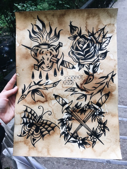 neo traditional tattoo flash