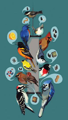 Latest blog post at Cool Green Science…Winter bird feeding: good or bad for birds?. I love this art by JL Hirten