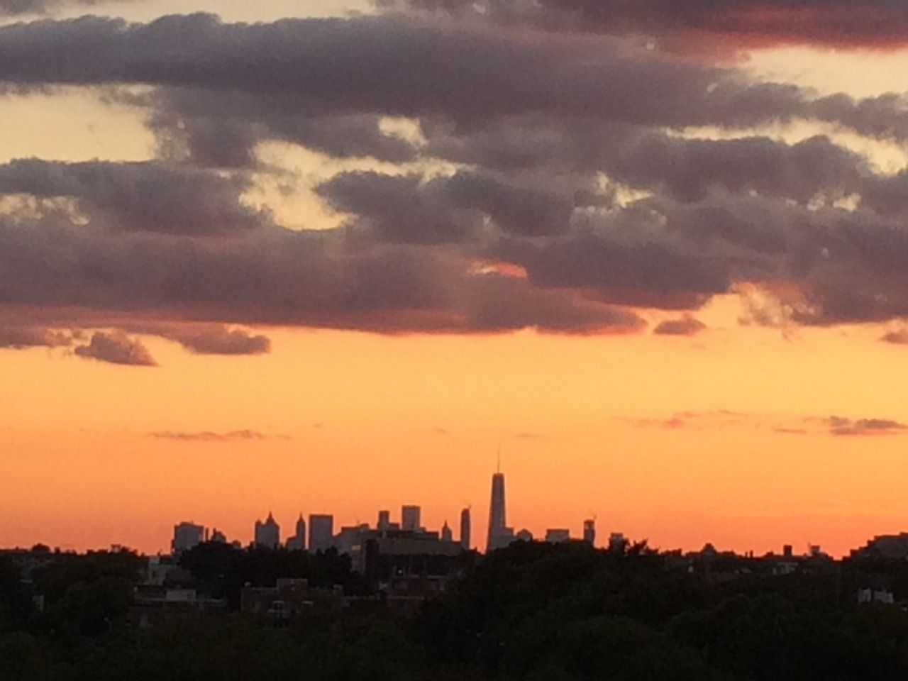 Our beautiful, but changed skyline, on Sept. 11, from Arthur Ashe at the U.S. Open.