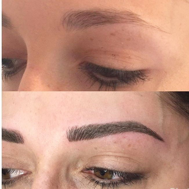 Unique Cosmetic Brow Tattoo with @uniquecosmetictattooing 💗
