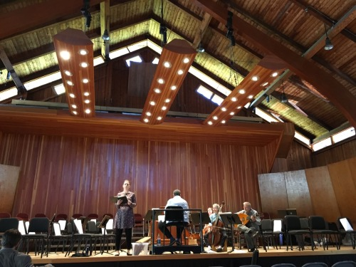 Rehearsing for the New England Bach Festival at Marlboro College in VT!