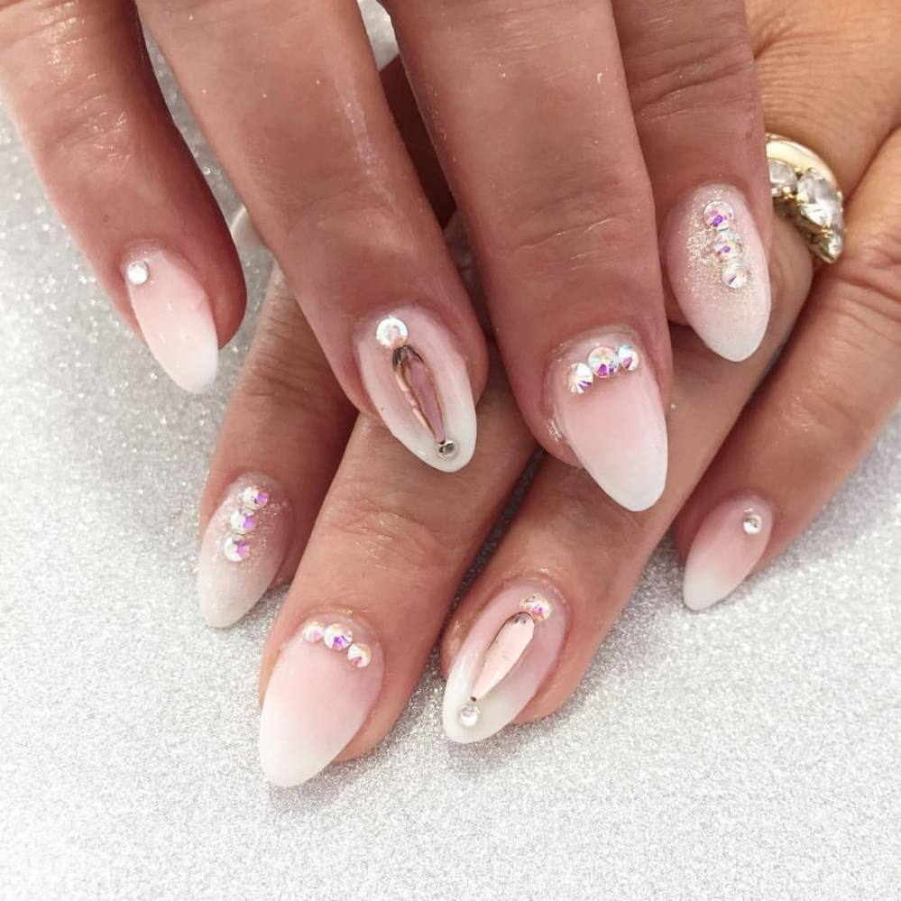 Pink and White Ombre by @tanya_louise_mom