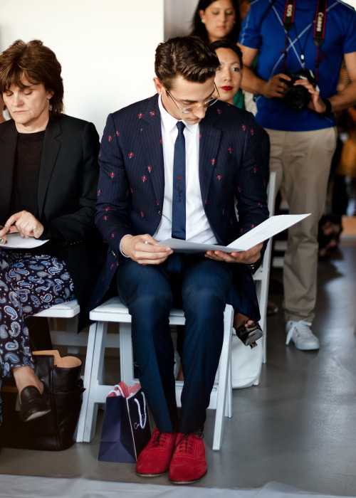 Spotted at the Oscar de la Renta show.