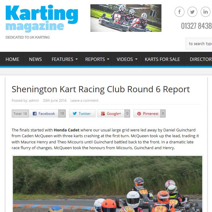 Karting Magazine race report Shenington