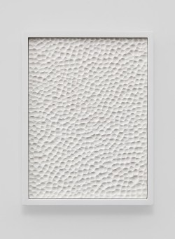 """arthuntblog:  Anthony Pearson [USA] (b 1969) ~ """"Untitled (Etched Plaster)"""", 2014. Pigmented hydrocal in lacquer finished maple frame (41.3 x 31.1 x 5.1 cm)."""