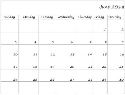 August 2018 bank holidays — June calendar printable uk 2018
