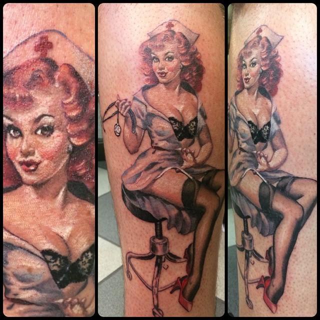 pinup-nurse-naughtynurse-tattoo-tattoos