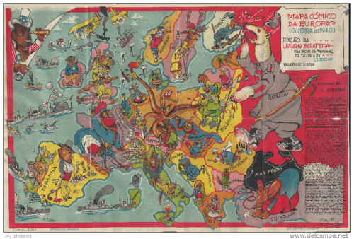 Comic map of Europe  1940  portuguese   More      Maps on the Web Comic map of Europe  1940  portuguese   More satirical maps of Europe