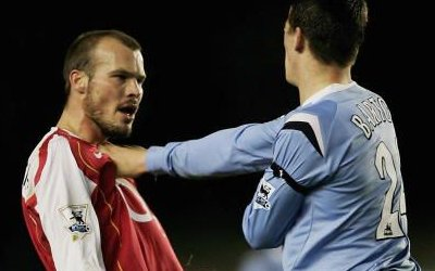 Joey Barton attacks Freddie Ljungberg