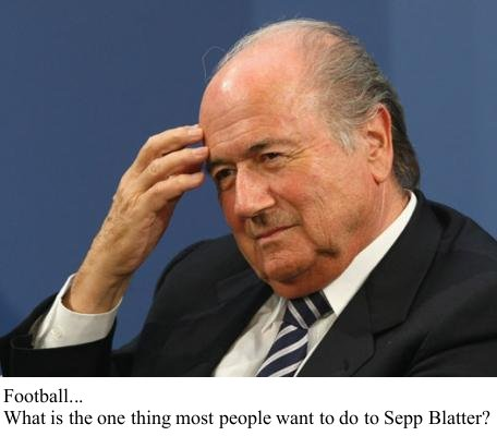 Blatter does his Carnack the Magnificent routine.