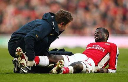 Eboue comes down with another of his mystery injuries.