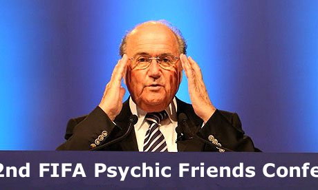 A hoof, a shoe, and a leg... Things that Sepp Blatter puts in his mouth
