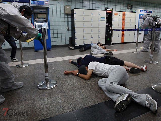 Anti-chemical Terror Exercise In Seoul