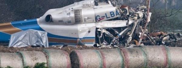Helicopter crash in Gillingham, Britain