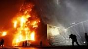 В Москве сгорел крупный склад