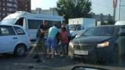 В Уфе водители подрались, устанавливая виновника ДТП