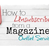 How to Unsubscribe from a Magazine Outlet Service
