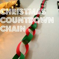Easy Christmas Countdown Chain Craft for Children