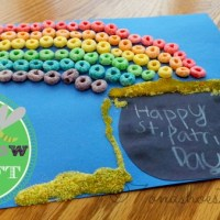 Easy Rainbow Craft for Kids to Make for St. Patrick Day #stpatricksday