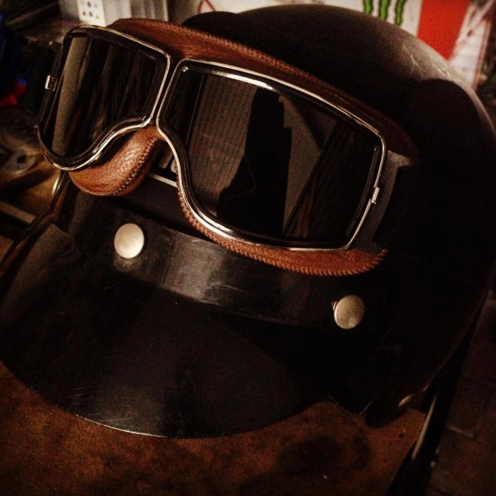 New googles just for custom motorcycles and vintage helmets 77hellip