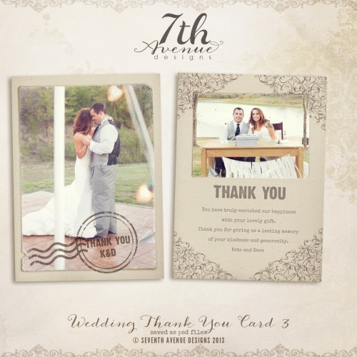index thank you cards wedding Thank You Card 3