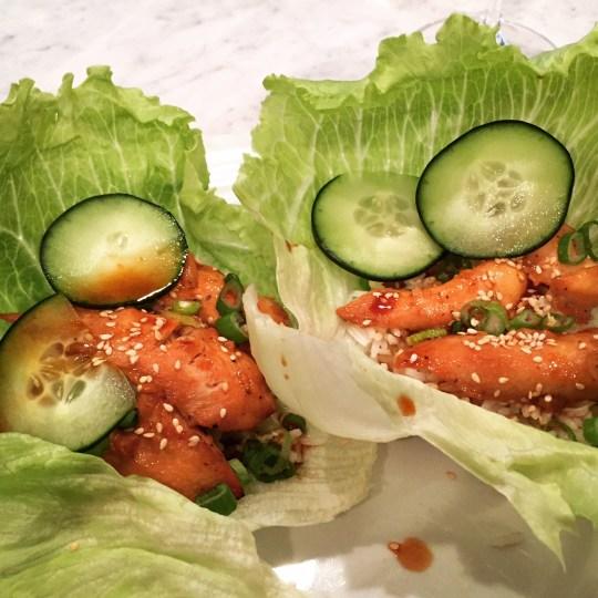 Korean Chicken Lettuce Wraps - 2