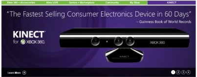 Kinect - Fastest Selling Consumer Device