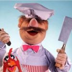 "I made sure to end my speech by exclaiming, ""Bork bork bork!"" And then I indiscriminately threw some utensils."