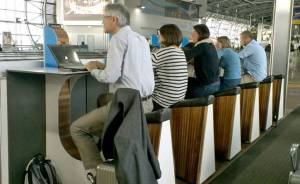 Plus you can get a bit of exercise between flights! Source: Treehugger.com