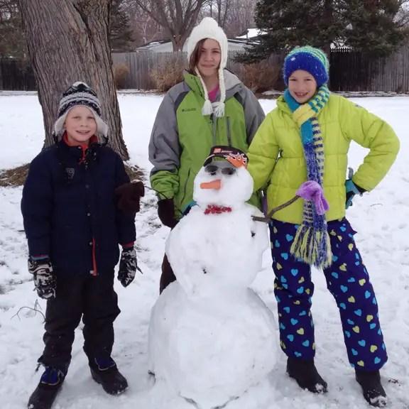 Spring Break Snowman