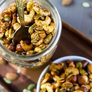 Sweet & Spicy Nut Mix #vegan #glutenfree #recipe #snack