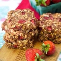 Nutritious Strawberry Breakfast Cookies (vegan, gf)