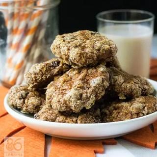Vegan Pumpkin Oatmeal Cookies (gluten-free)