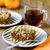 Pumpkin Pecan Cake (v/gf)