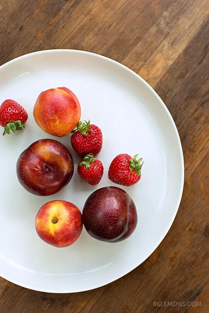 Summer Fruit Galette (vegan, gluten-free) Mud Australia porcelain platter 07