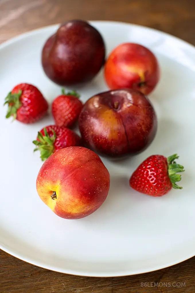 Summer Fruit Galette (vegan, gluten-free) Mud Australia porcelain platter 08