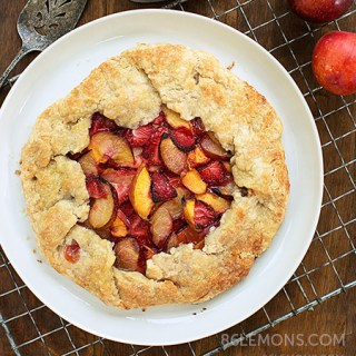 Summer Fruit Galette (vegan, gluten-free) F