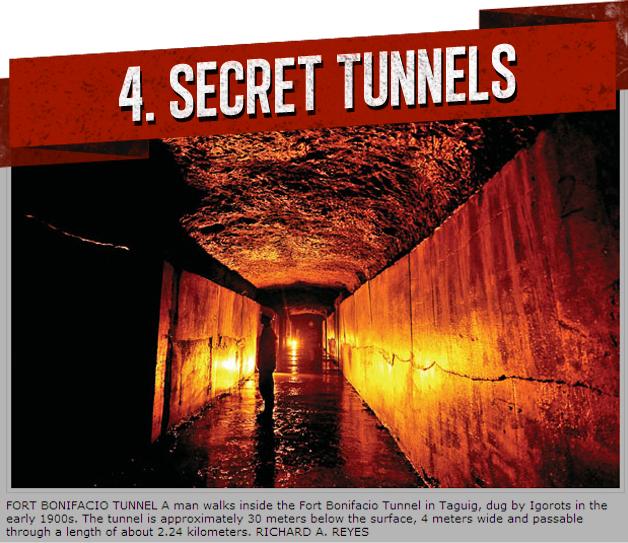 4. SECRET TUNNELS