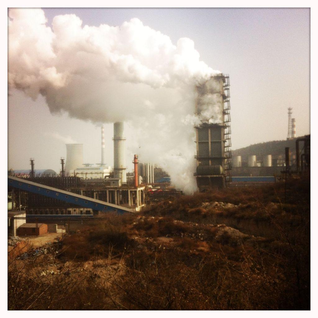Stahlwerk in der chinesischen Provinz Hebei