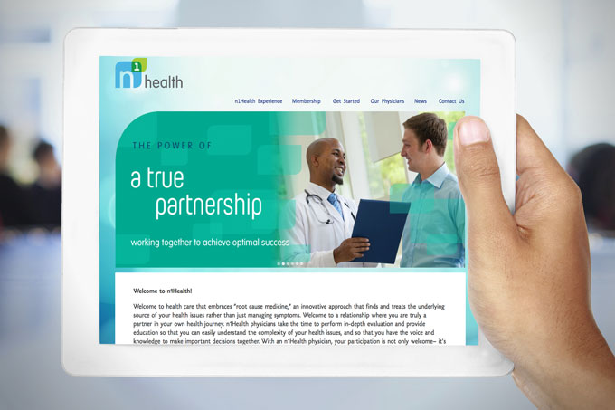 N1Health Logo, Identity And Web Design.