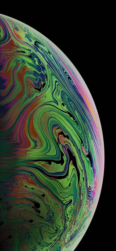 Download the 3 iPhone XS Max Wallpapers of Bubbles