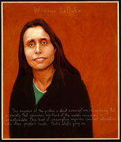 Portrait of Winona LaDuke