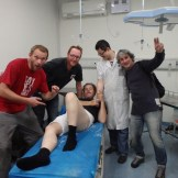 In Chengdu A&E patching up Barry