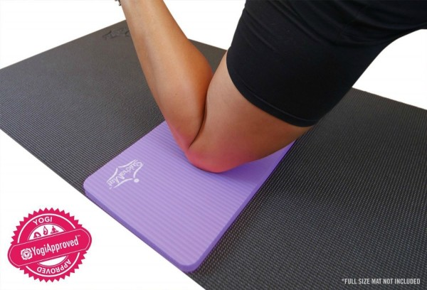Yoga meditation beginners can do with a yoga knee pad for pain free yoga poses...