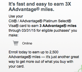 Bonus AA miles  for Shopping Online