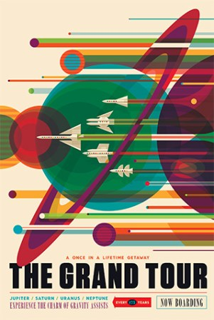 NASA's  Vision of the Future Travel Poster